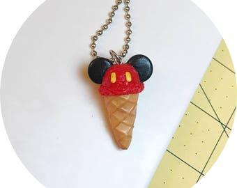 Mickey Cone Necklace