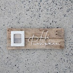 Hi Pumpkin Picture Frame Sign