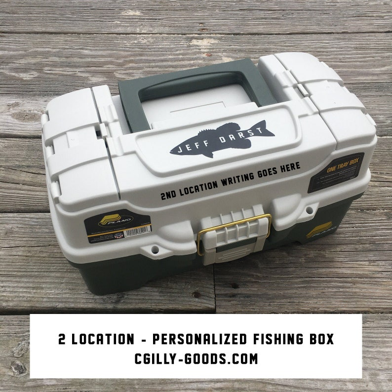 Two Location  Personalized Fishing Box image 0