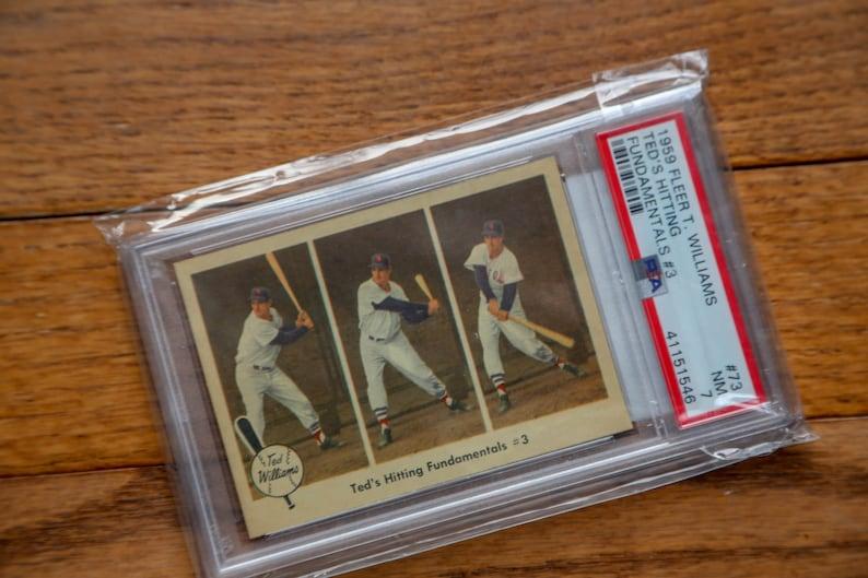 Hitting Fundamentals 1959 Fleer Ted Williams Baseball Card