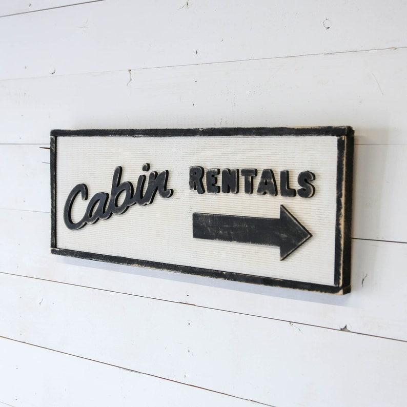 Cabin Rental Sign image 0