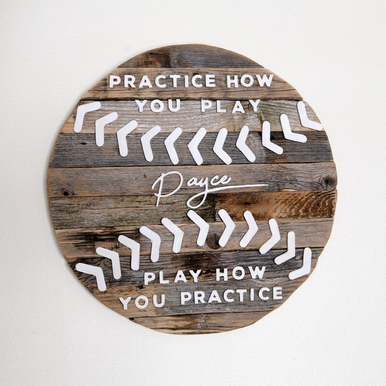 RUSTIC BASEBALL QUOTE sign image 0