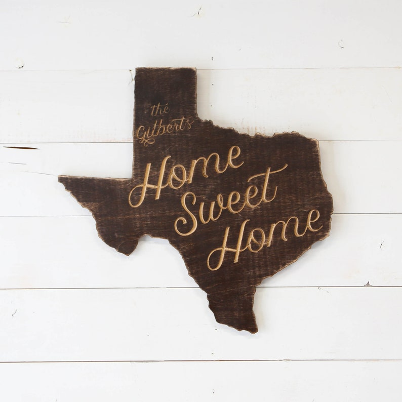 State Home Sweet Home Personalized Sign image 0