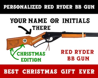 Personalized Christmas Edition Red Ryder BB gun - FREE SHIPPING - Limited Time Offer