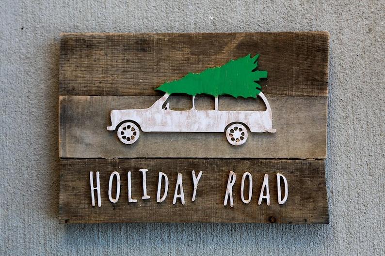 Holiday Road Christmas tree reclaimed wood art image 0