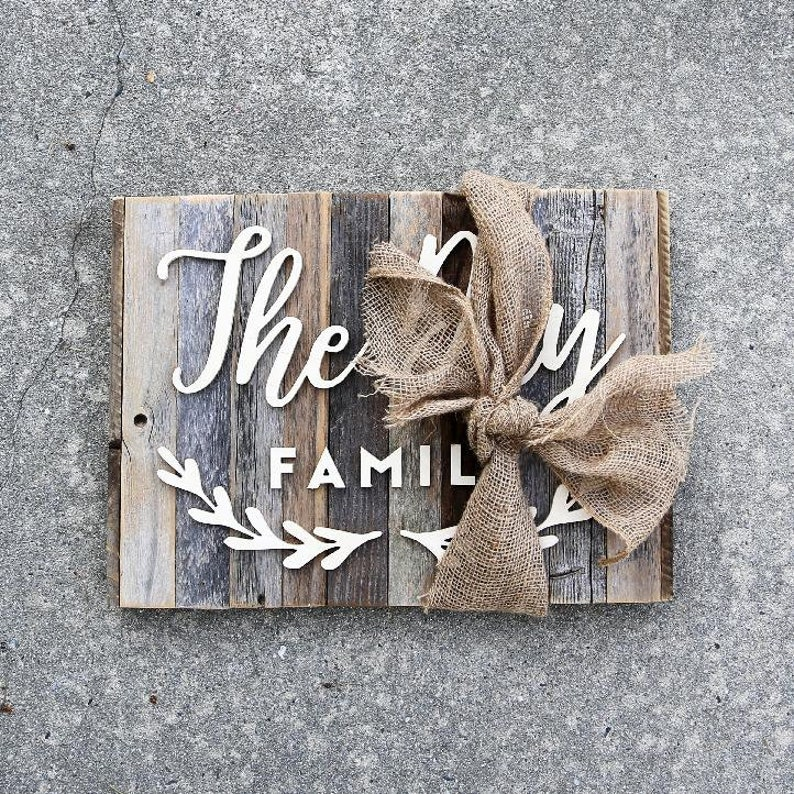 Square Family Wood Sign image 0
