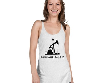 Come and Take it, Pumpjack by Cgilly - Women's Racerback Tank