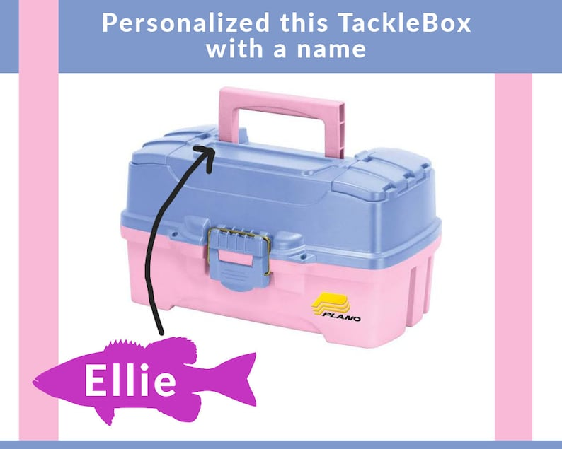 Personalized Plano Tacklebox  Periwinkle-Pink image 0