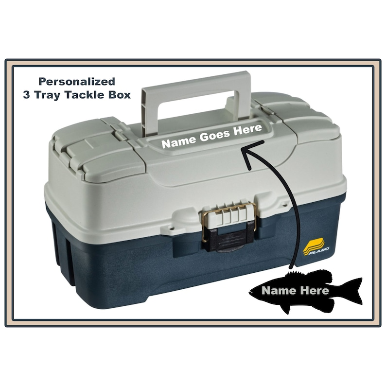 Personalized Plano Fishing Box  3 Tray  Tackle Box image 0