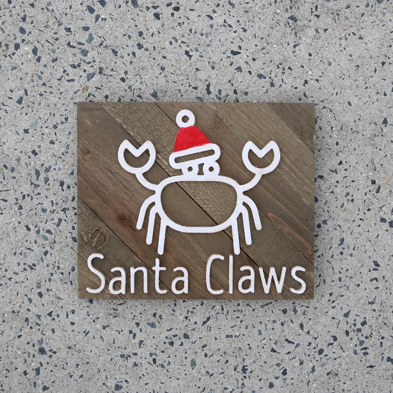 Santa Claws original  Christmas Sign image 0
