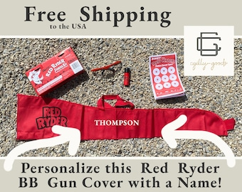 Red Ryder BB gun Safety Kit - With Personalized Gun Sleeve - Free Shipping to USA