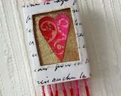 Matchbox Art - Pink Heart