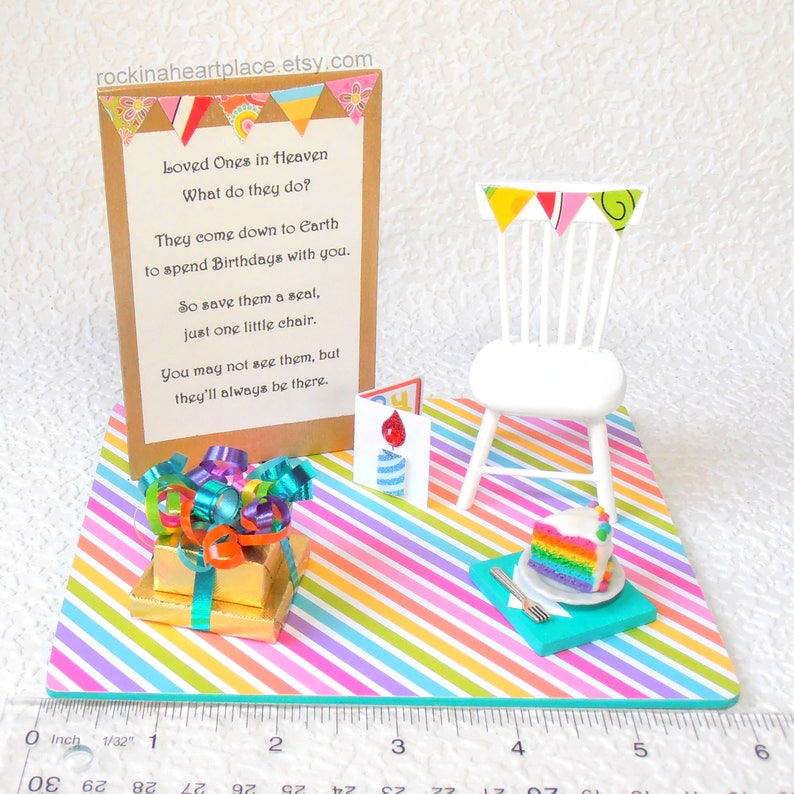 Birthdays In Heaven Poem Miniature Birthday Scene Based On