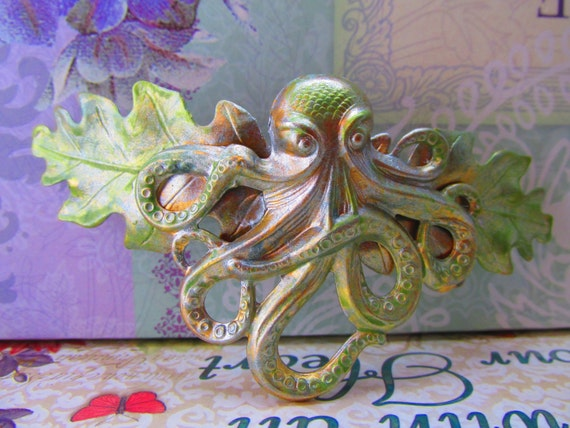 Octopus Nautical Hair Clip Barrette