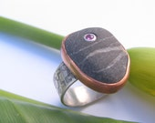 Pebble and Ruby, Ring ,Si...