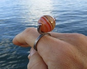 Ring Agate Ruby Sterling ...