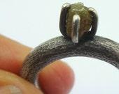 Raw Diamond Ring Rough Di...