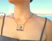 Necklace Pyrite Pearl Rub...