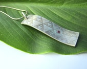 Ruby Pendant Sterling Sil...