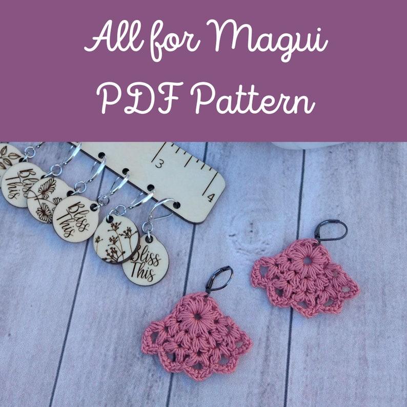 PDF Pattern: Crochet Earrings All for Magui image 0