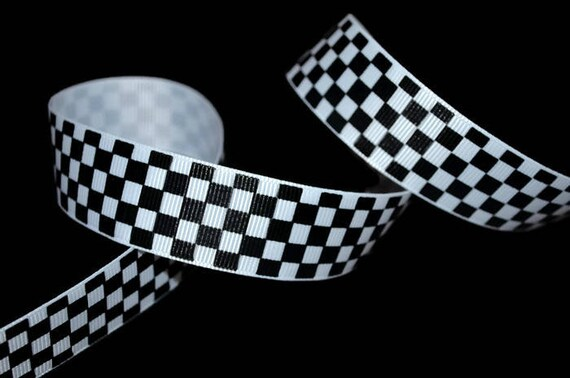 Race Car Ribbon Car Racing Ribbon Checker Flag Ribbon Etsy