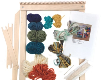 Tapestry Weaving Loom Kit   Gifts for Knitters   Beginner Tapestry DIY Frame Loom   Learn to Weave Woven Wall Hanging   Tapestry Tools