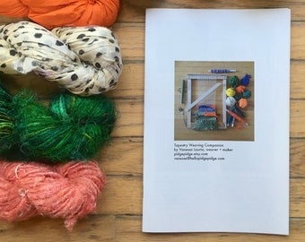 Beginner Tapestry Weaving Workbook   DIY Crafters   Learn to Weave Booklet   Tapestry 101 Loom Instruction   Tapestry Weaving Companion Book