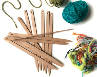 Weaving Needle Sets for Tapestry Loom   Wooden Tapestry Needles   Weaving Loom Tools   Needles   Needles for Beginner   Weaving Supplies
