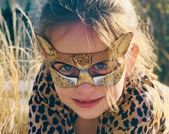 Cheetah Mask - Costume - Halloween - Purim - Dress Up