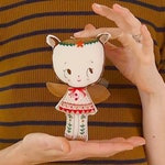 DIY Embroidered Doll Kit + Book. Waldorf Chestnut doll. Beginners Needlecraft Stitchery kit. Embroidery Fairy Doll Pattern & tutorial Gift.