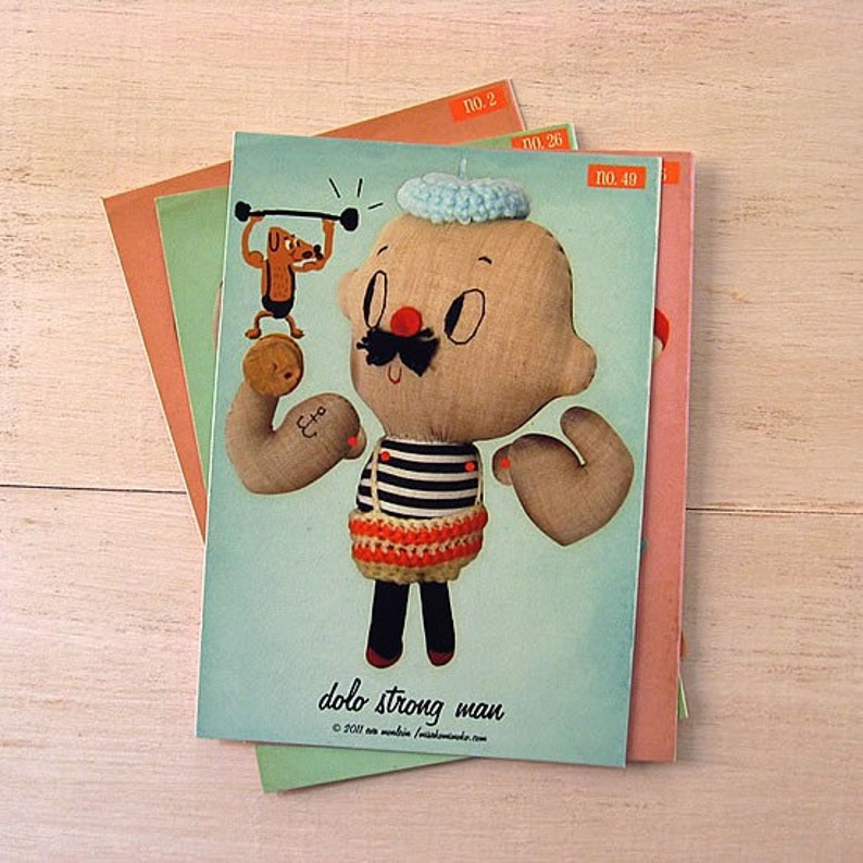 On Sale Cutout Paper Doll. dolo strongman articulated paper image 0