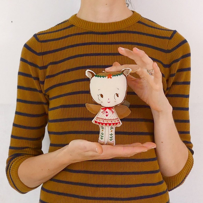 DIY Embroidered Doll Kit  Book. Waldorf Chestnut doll. image 0