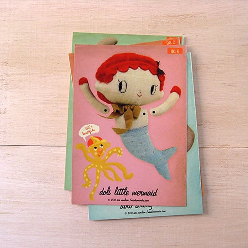 On SALE Mermaid paper doll. DIY cut out paper puppet image 0