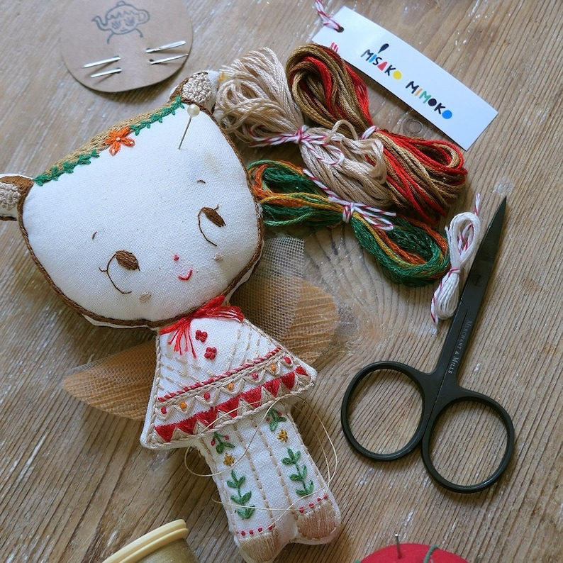 DIY Embroidery Kit  Book. Sew and make doll kit. Waldorf Doll image 0