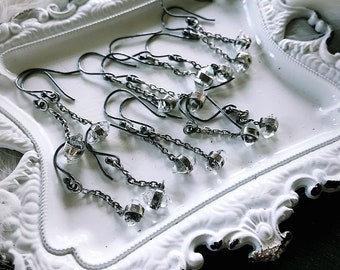 Herkimer diamond dangle earrings | Crystal earrings