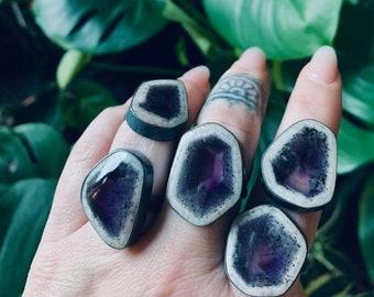 Apex amethyst ring