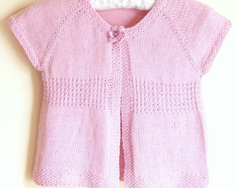 f387bcf17 Knitting PATTERN Seamless Top Down BABY Girl SHRUG Cardigan