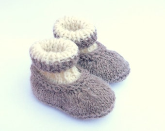 bb474f675 Knitting Pattern Baby Booties Baby Shoes Simple Seamless