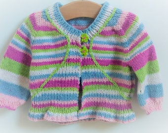 Candy 7 Baby Sweater Seamless Knitting Top Child yrs Down Cardigan and Cardigan Jacket sizes 6 Pattern for Baby aa1qP