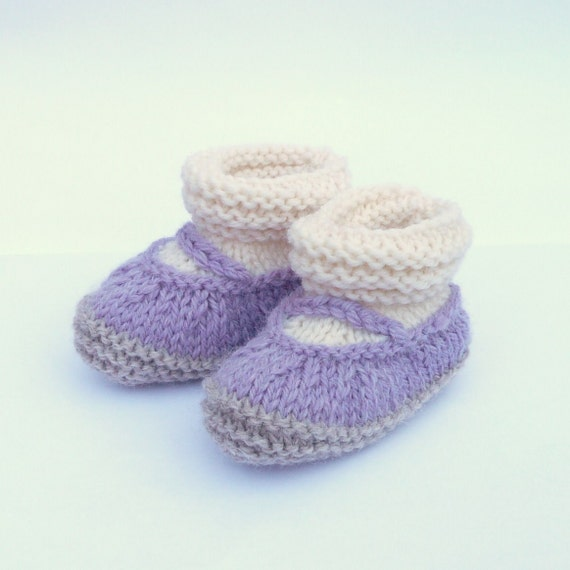 Baby Knit Pattern Baby Booties Boots Simple Seamless Lilac