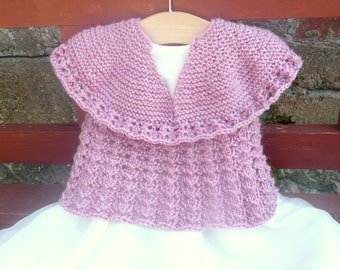 Knitting Pattern Sweater Jumper Seamless Top Down  - Angelique ( 6 Sizes 0 - 7 yrs)