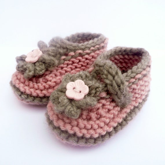 Knitting Pattern Baby Booties Simple Seamless Cute Classic Etsy