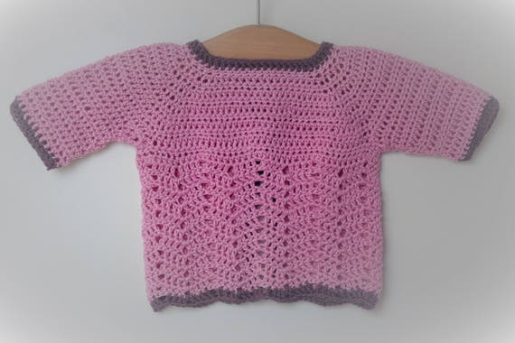 4e04fc419 Crochet Pattern Seamless Top Down Baby Girl Cardigan Jacket