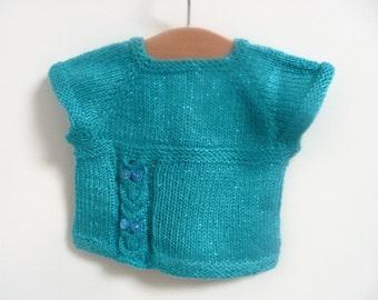 Knitting PATTERN Seamless Top Down Sweater Jumper Tunic - Tylluan Tunic Top ( 6 sizes to fit 0 - 7 yrs)