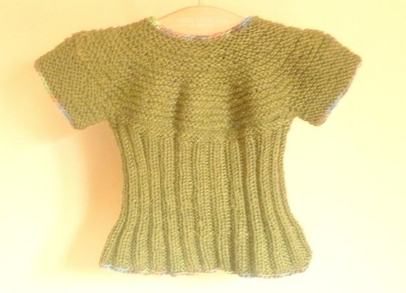 adf1af8a7 Knitting PATTERN Seamless Top Down Baby Sweater Jumper Tunic