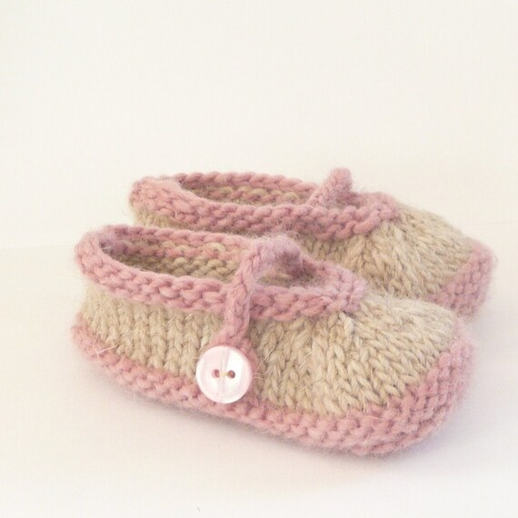Knitting Pattern Baby Booties Simple Seamless Mary Janes Etsy