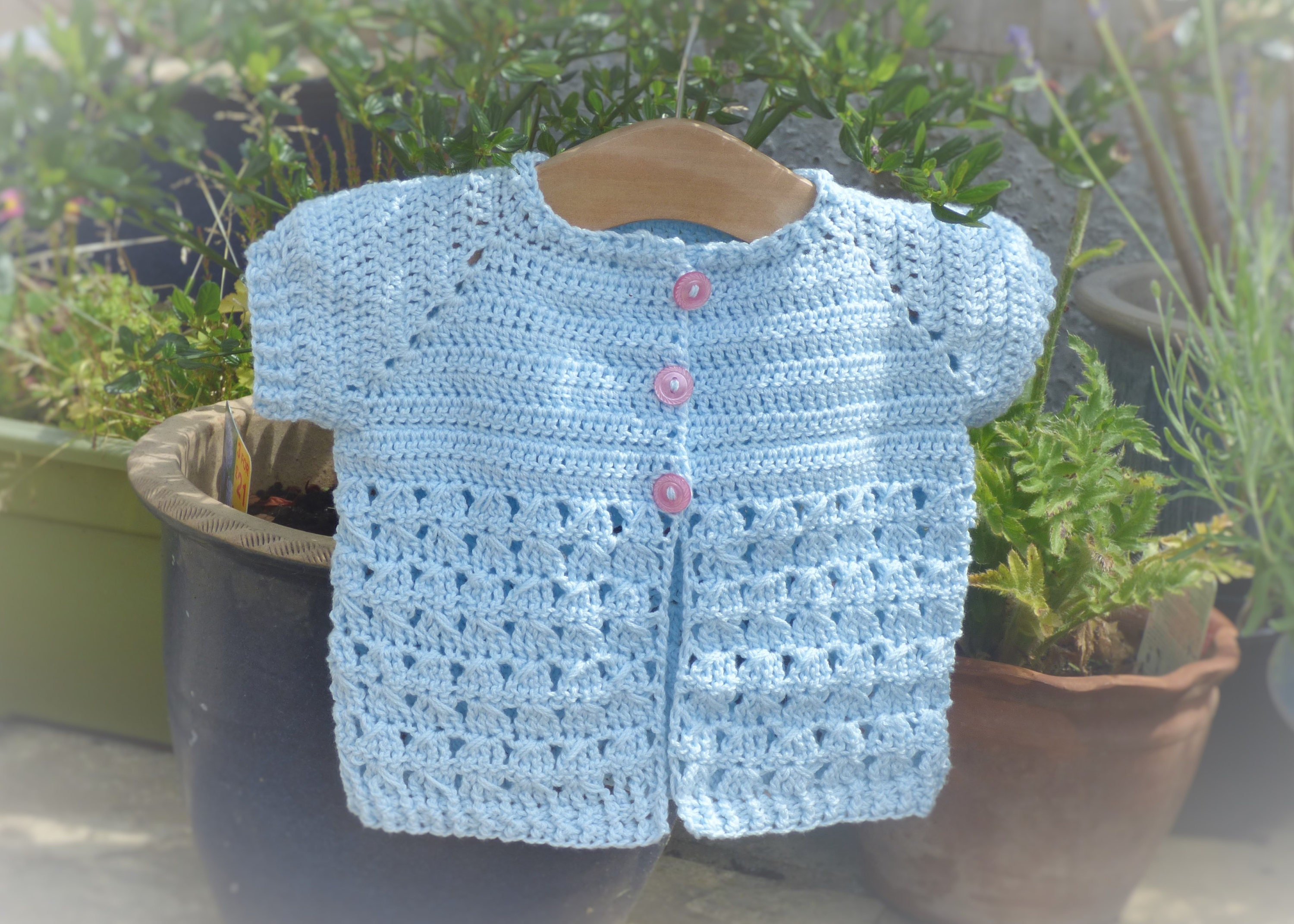 Crochet Pattern Cardigan Seamless Top Down Baby Girl Etsy