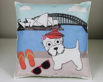 Westie Mini Printed Cushion