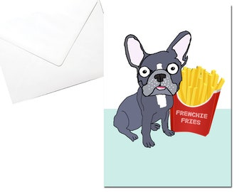 French Bulldog Card