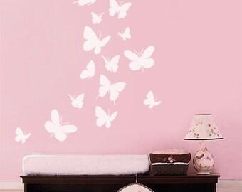 Attractive Butterflies Wall Decal, Set Of 16 Butterflies Wall Decal, Butterfly Nursery  Kids Vinyl Wall Decal Baby Room Decor Art, Butterfly Wall Decal